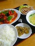 北方菜鶏の甘酢定食